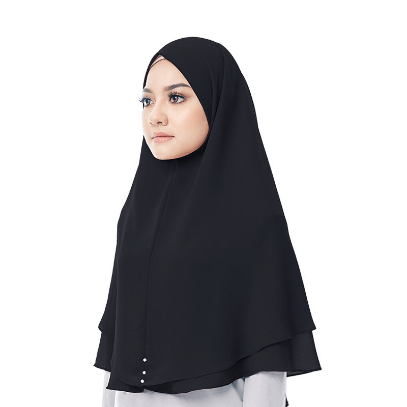 Hayyan Khimar in Black