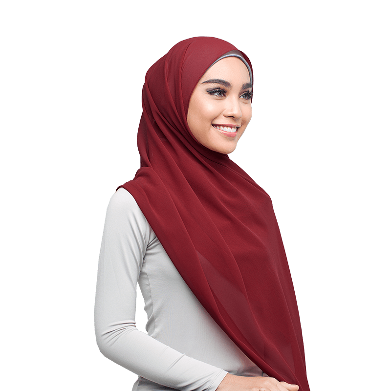 Wardia Basic Scarf in Cayenne Red