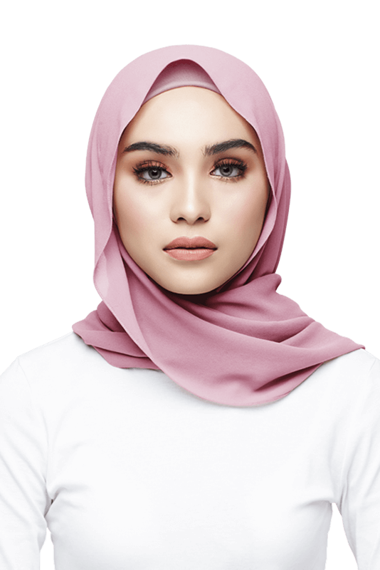 Azra Semi Instant Scarf in Shell Pink