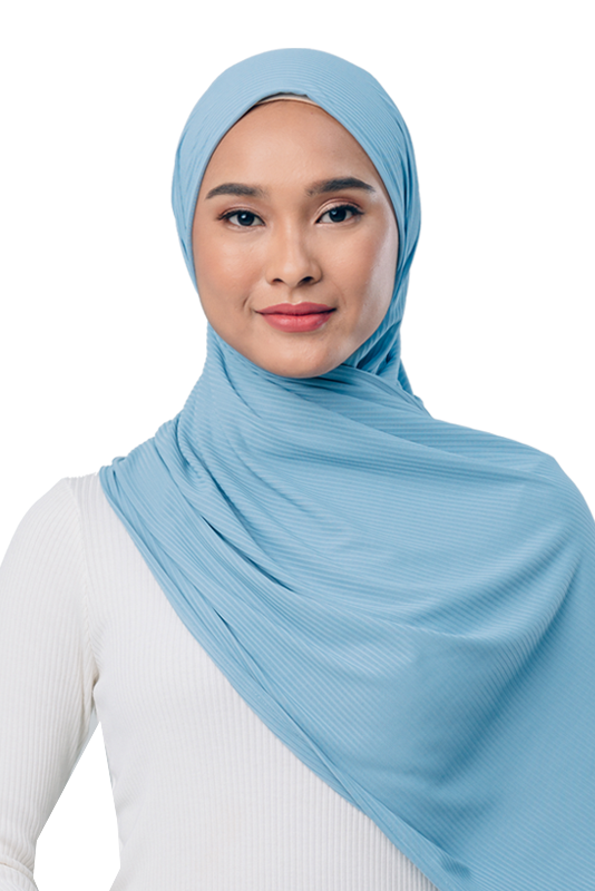 Jet Setter Scarf in Baby Blue