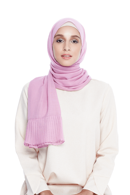 Pleated Scarf in Blush Pink