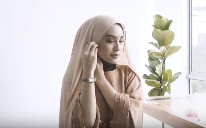 #16 UMMA Hijab Tutorial - Dusk Collection Scarf in Vanilla Suede Part 2