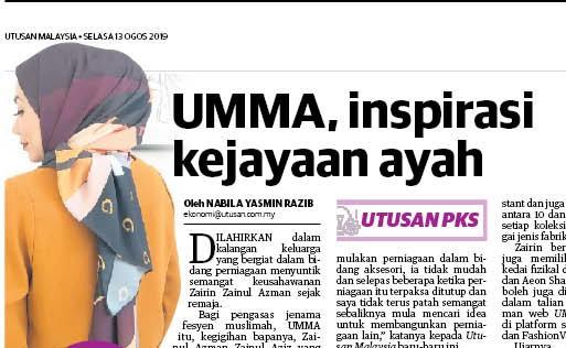 UMMA, inspirasi kejayaan ayah